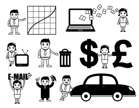 Business Cartoon Vectors Set