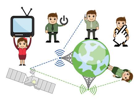 video call: Communication Cartoon Vector Concepts Illustration
