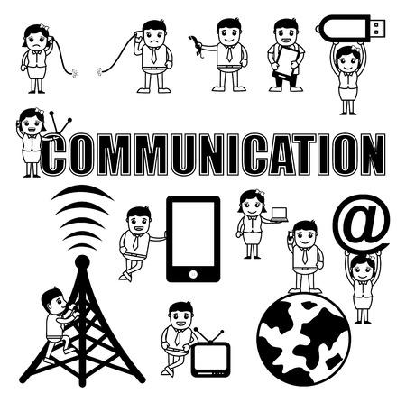 global communication: Communication Concepts Cartoon Vectors