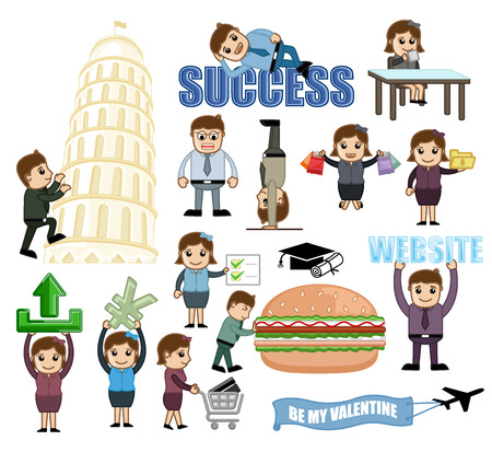 Business, Travel and Food Vector Graphics
