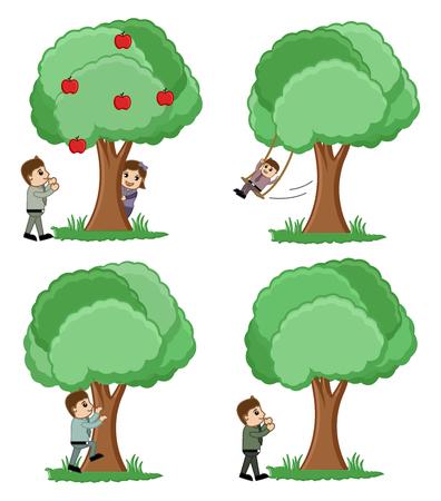 Cartoon Nature Concepts Illustration