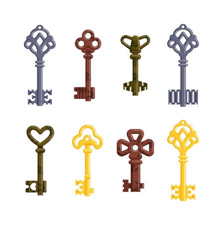 chiave della porta d'epoca vintage chiave isolato su sfondo bianco ... - Decorativo Della Porta Di Sicurezza