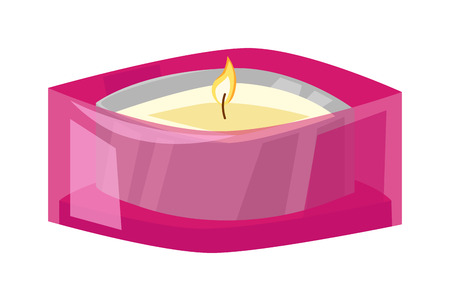 Aroma candle isolated spa aromatherapy aroma candle and relaxation aroma candle. Beauty flame relax care aroma candle. Decoration health therapy aroma candle treatment bath natural care Illustration