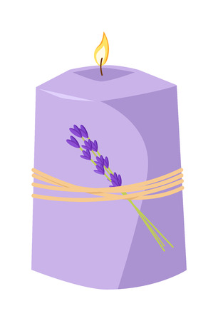 scented candle: Aroma candle isolated spa aromatherapy aroma candle and relaxation aroma candle. Beauty flame relax care aroma candle. Decoration health therapy aroma candle treatment bath natural care Illustration