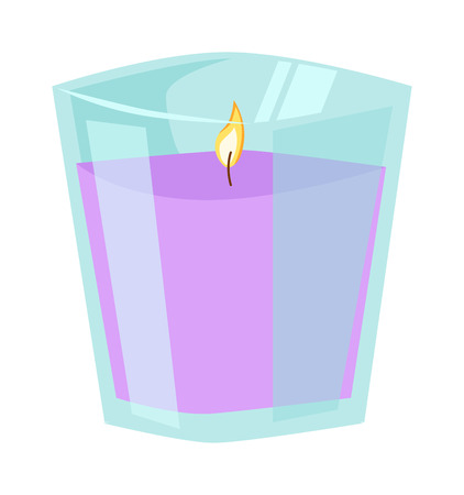 bath treatment: Aroma candle isolated spa aromatherapy aroma candle and relaxation aroma candle. Beauty flame relax care aroma candle. Decoration health therapy aroma candle treatment bath natural care Illustration