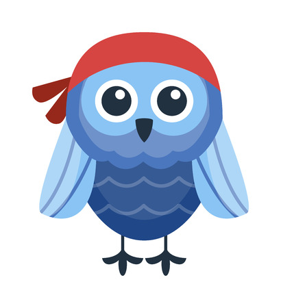 Cute vector funny cartoon owls. Animal character cartoon owl comic funny collection. Doodle cheerful bird cartoon owl. Adorable different owl various expression bird Illustration