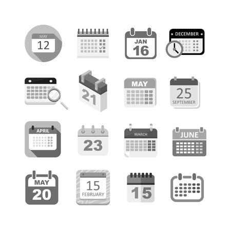 Calendario del icono del vector aislado, icono de calendario recordatorio símbolo gráfico mensaje de elemento. Calendario mensaje icono de plantilla oficina de forma icono de calendario de citas. Carpeta icono del calendario previsto. Ilustración de vector