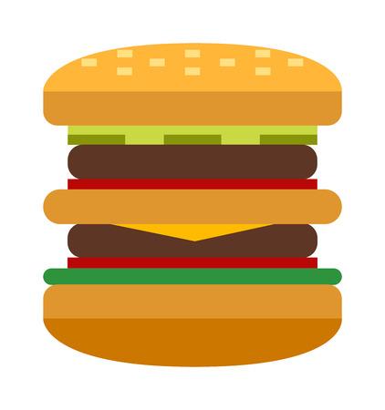american cuisine: Hamburger fast food and hamburger tasty grilled american dinner. Hamburger classic cuisine gourmet fast food. Hamburger cheeseburger. Hamburger with meat, lettuce and cheese sandwich fast food