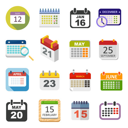 Calendario del icono del vector aislado, icono de calendario recordatorio símbolo gráfico mensaje de elemento. Calendario mensaje icono de plantilla oficina de forma icono de calendario de citas. Carpeta icono del calendario previsto.