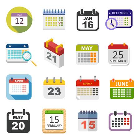 Calendrier icône vecteur isolé, calendrier icône rappel symbole graphique élément de message. Calendar icon modèle de message bureau de forme icône du calendrier rendez-vous. Binder calendrier icône de planification. Banque d'images - 60497168