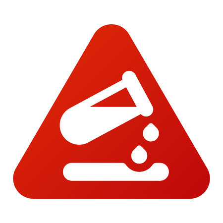 Attention biology viruses icon danger button and attention warning sign. Attention security alarm symbol. Danger warning attention virus sign with symbol information and notification icon vector
