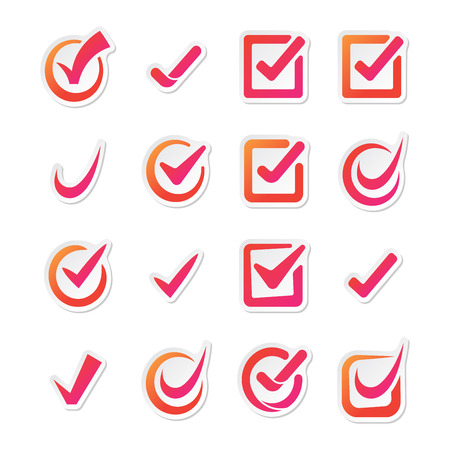 right to vote: Check box vector icons vector set. Check vote icons vote mark sign choice yes symbol. Correct design check vote icons check mark right agreement voting form. Button question choose success graphic. Illustration