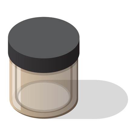 glass jar: Empty glass bank blank jar classic home dishes vector. Vacant empty bank unoccupied jar box and empty bank finansial pack tube savings concept. Glass Jar with cover empty bank vector. Illustration