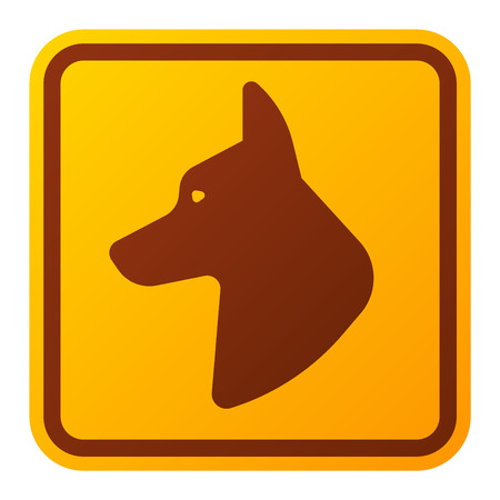 security alarm: Attention icon danger dog button and attention warning sign. Attention security alarm symbol. Danger dog warning attention sign with symbol information and notification icon vector