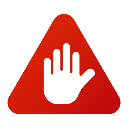 warning attention sign: Attention stop hand icon danger button and attention warning sign. Attention security alarm symbol. Danger warning attention sign with symbol information and notification icon vector