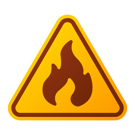 warning attention sign: Attention fire flame icon danger button and attention warning sign. Attention security alarm symbol. Danger warning attention sign with symbol information and notification icon vector