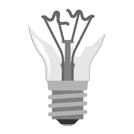 Cartoon kapotte lamp elektrische en helder cartoon binnenverlichting gereedschap plat vector. Flat lamp gloeilamp elektriciteit ontwerp plat vector illustratie. Vector gloeilamp lamp geïsoleerd, creatief idee