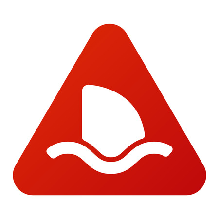attention sign: Attention shark icon danger button and attention warning sign. Attention security alarm symbol. Danger warning attention sign shark with symbol information and notification icon vector