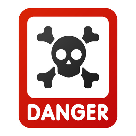 Attention hight voltage icon danger button and attention warning sign. Attention security alarm symbol. Danger warning attention sign with symbol danger zone information and notification icon vector Imagens - 61094552