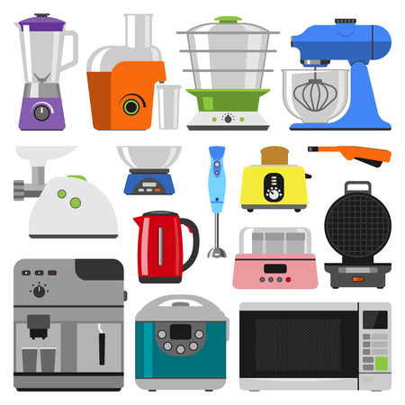 Home appliances cooking kitchen appliances and home equipment kitchen. Home appliances household cooking set. Home electronics kitchen appliances elements infographics template concept vector. Stok Fotoğraf - 61094553
