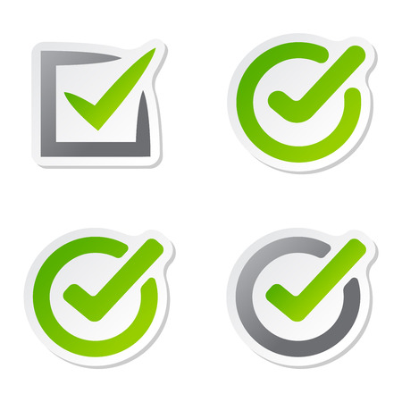 right to vote: Check box vector icons vector set. Check vote icons vote mark sign choice yes symbol. Correct design check vote icons check mark right agreement voting form. Button question choose success graphic. Stock Photo