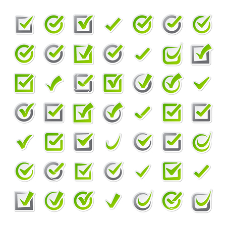 check icon: Check box vector icons vector set. Check vote icons vote mark sign choice yes symbol. Correct design check vote icons check mark right agreement voting form. Button question choose success graphic. Illustration
