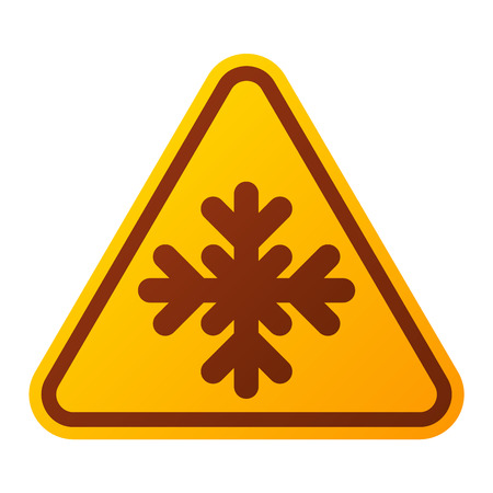 security alarm: Attention snowflake icon danger button and attention warning sign. Attention security alarm symbol. Danger warning attention sign with symbol information and notification icon vector Illustration