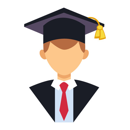 Graduation education people avatar graduate students knowledge school university college graduation people icon infographic concept. Graduation people icons uniform throwing caps vector.
