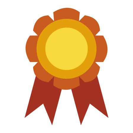 primer lugar: medalla de cinta de la concesión del vector sello y el logro de la cinta. Medalla símbolo sello y la medalla de primer deporte del campeón del lugar. Medalla de primer lugar trofeo emblema.