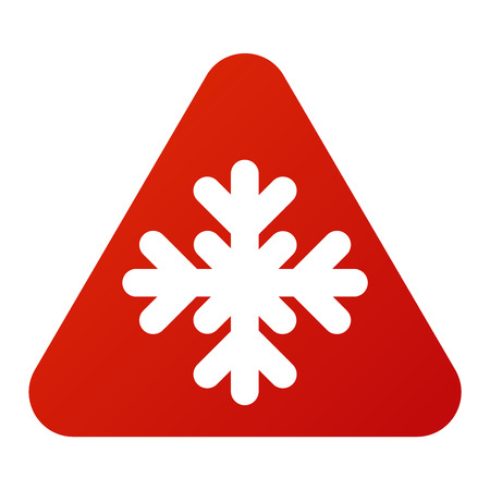 Attention snowflake icon danger button and attention warning sign. Attention security alarm symbol. Danger warning attention sign with symbol information and notification icon vector Illustration
