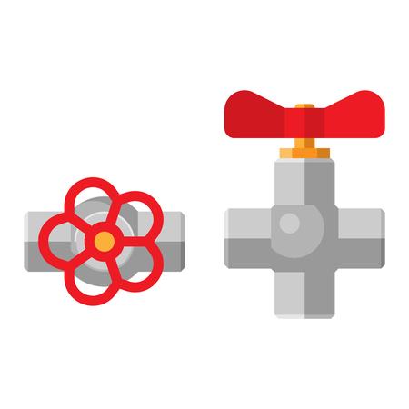 oilfield: Gas or water crane flat icon vector illustration. Flat icon vector illustration of water crane isolated on white. Water crane Illustration