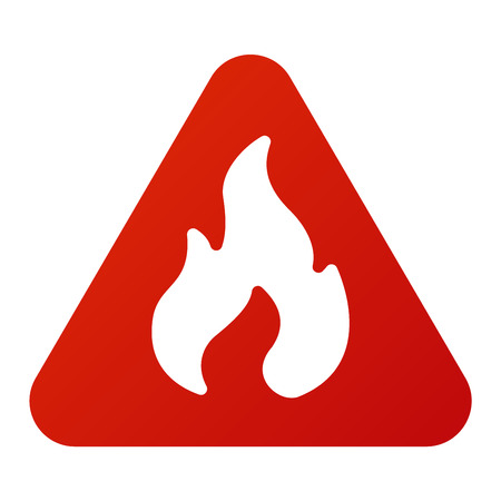 security alarm: Attention fire flame icon danger button and attention warning sign. Attention security alarm symbol. Danger warning attention sign with symbol information and notification icon vector