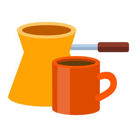 coffee pot: Turkish fishborn coffee pot prepared coffee.