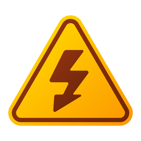 Attention hight voltage icon danger button and attention warning sign. Attention security alarm symbol. Danger warning attention sign with symbol danger zone information and notification icon vector Imagens - 61324688