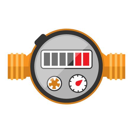 manometer: Pressure sensor manometer tool vector icon or pressure sensor on factory pipeline. Circle pressure temperature manometer sensor control for industrial. Water manometer pressure