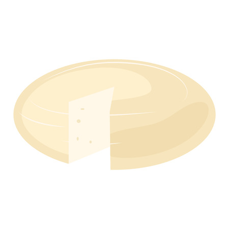 frais icône variété de fromage jeu plat délicieux isolé illustration vectorielle. Dairy variétés de fromage nourriture et camembert au lait variétés morceau de fromage. Différents fromages de charcuterie varietie