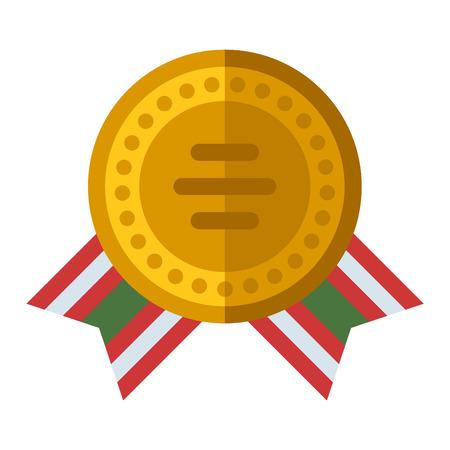 first place: medalla de Premio cinta primer lugar del vector y el primer lugar premio a la cinta ganadora de la medalla. Medalla de primer lugar símbolo de éxito y la medalla de primer deporte del campeón del lugar. Medalla de primer lugar trofeo emblema.