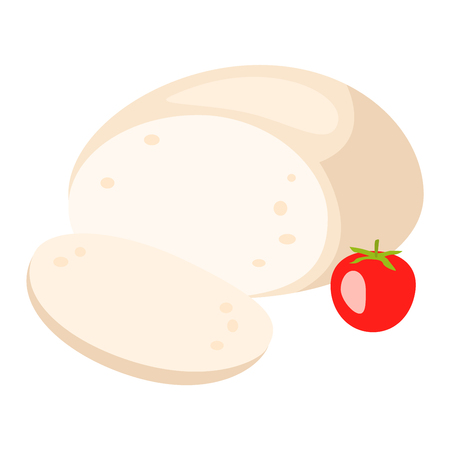 delicatessen: Delicious fresh cheese variety icon flat set isolated vector illustration. Dairy cheese varieties food and milk camembert piece cheese varieties. Different delicatessen cheese varietie