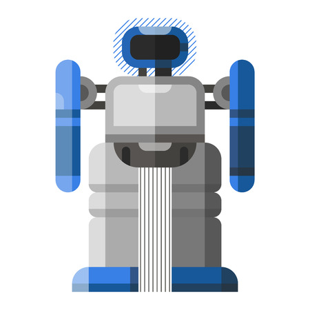 cute robot: Cute robot vector character. Robot technology machine future science toy. Cyborg futuristic design robotic toy robot. Cute element icon character, cartoon robot.