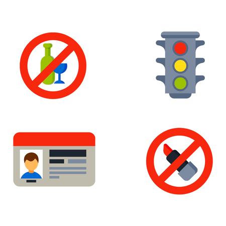 transport Auto automobiliste icônes symboles et des symboles de transport automobile équipement vecteur. service de transport automatique et des outils de pilote de voiture icônes haute ensemble vecteur détaillée. icônes de conduite Automobiliste