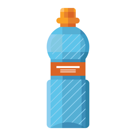 Sports water bottle vector illustration. Sports water bottle drink isolated, sports water bottle. Sports water fitness equipment health container. Bicycle plastic sport bottle for water. Vettoriali