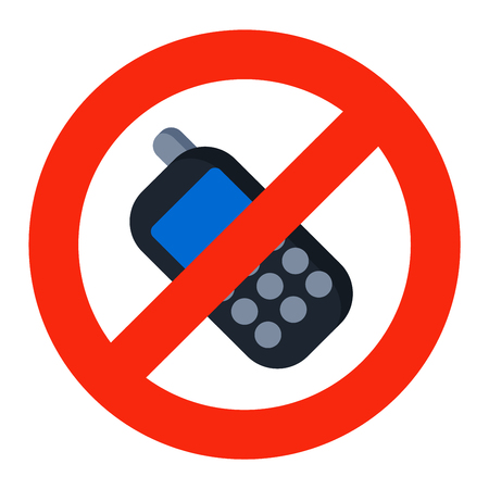 sign not to talk by phone: Prohibition music or phone talk sign vector illustration. Warning danger symbol prohibiting sign. Forbidden safety information prohibiting sign. Protection signs warning information sign. Illustration