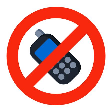 Prohibition music or phone talk sign vector illustration. Warning danger symbol prohibiting sign. Forbidden safety information prohibiting sign. Protection signs warning information sign. Illustration