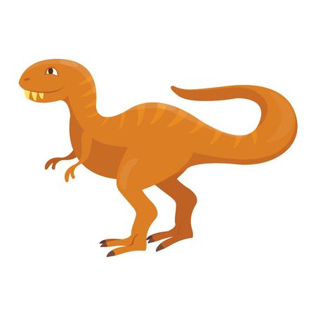 cartoon t rex: Dinosaur cartoon vector illustration. Cartoon dinosaurs cute monster funny animal and prehistoric character cartoon dinosaur. Cartoon comic fantasy dinosaur reptile
