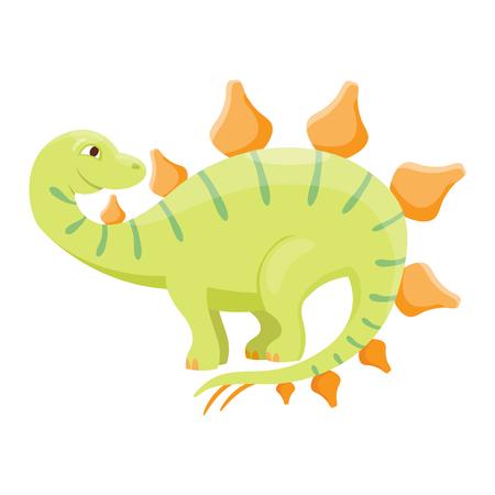 Dinosaur spinosaurus cartoon vector illustration. Cartoon dinosaurs cute monster funny animal and prehistoric character spinosaurus cartoon dinosaur. Cartoon comic fantasy spinosaurus dinosaur reptile Illustration