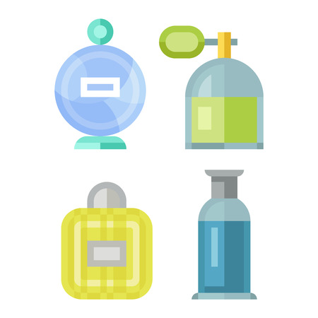 Vctor perfume fashion container template blank. Vector illustration perfume bottle symbol elegant merchandise gift. Beauty liquid luxury aroma perfume bottle template. Illustration
