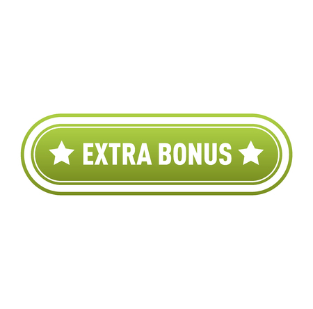 extra: Super and extra bonus banner text in color drawn label, business shopping concept vector. Internet promotion shopping extra bonus label button. Extra bonus label button advertising discount marketing. Illustration