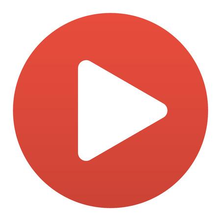 interface UI médias de jeu de bouton. Vecteur jeu internet lecteur bouton isolé. Site cinéma en ligne bouton de lecture concept. Jouer bouton signe élément de site Web. élément ui web lecteur de tube en ligne