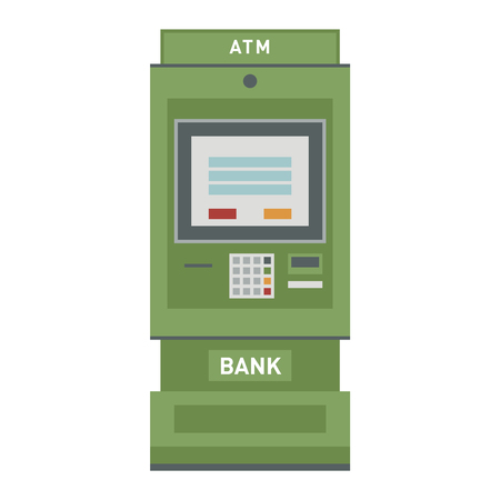 withdraw: ATM pos-terminal and hand money technology icon. Credit transfer mobile service atm icon money cash credit machine. Money credit currency cash sign atm icon banking payment service