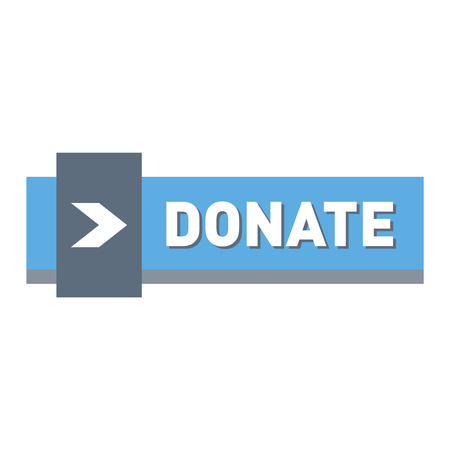 aiding: donate concept hand and money button in flat style